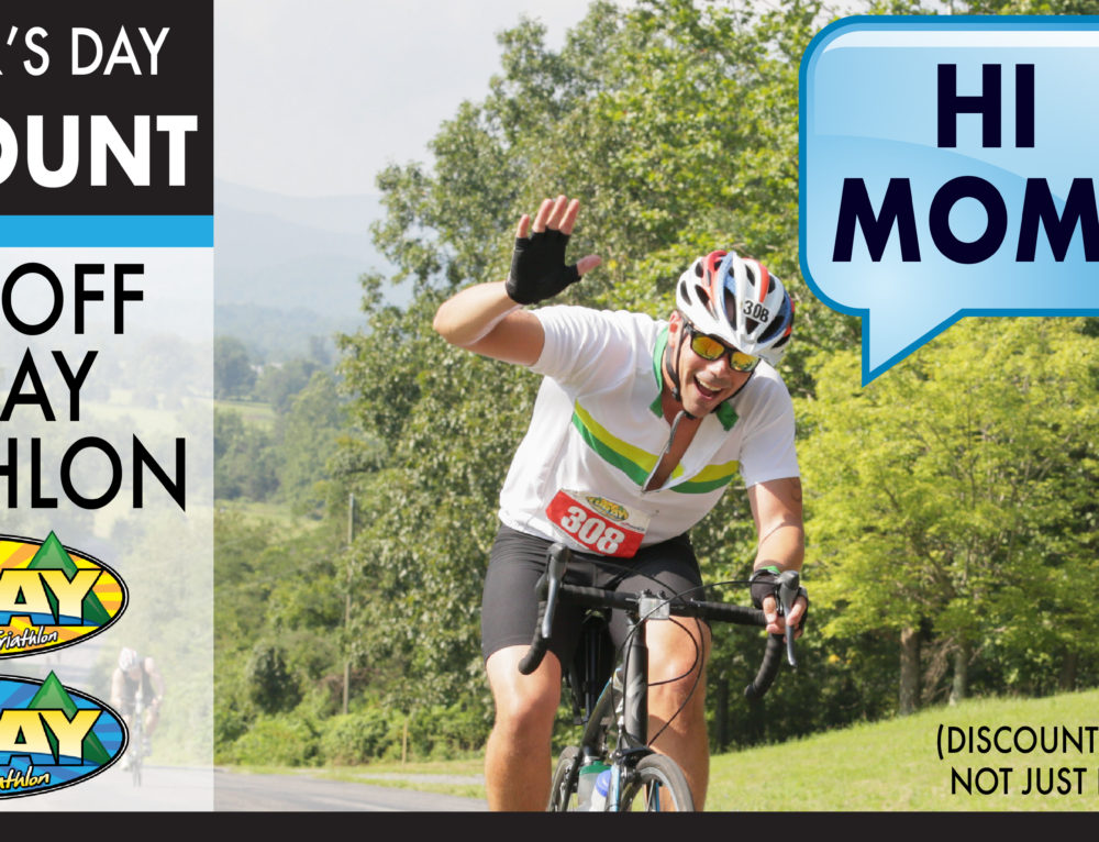 Mother's Day 15% Off Discount – Luray Triathlon