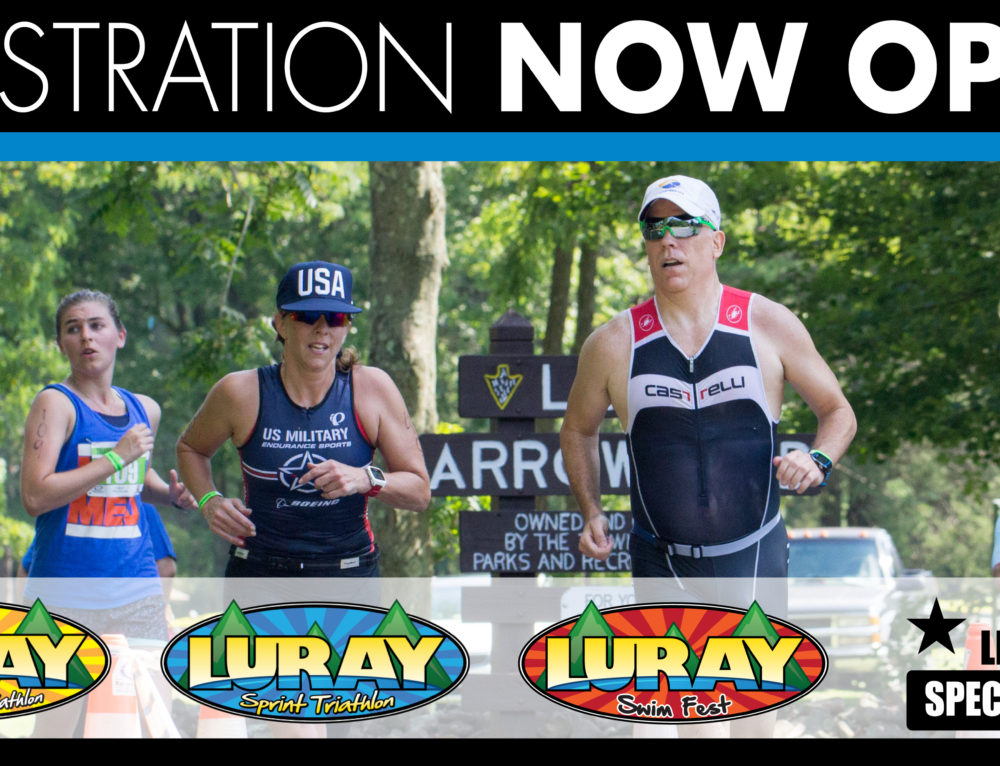 2018 REGISTRATION  NOW OPEN for all Luray Triathlon Events!