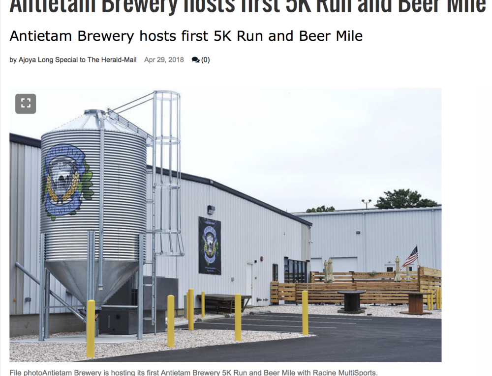 IN THE NEWS! Antietam Brewery 5K and Beer Mile
