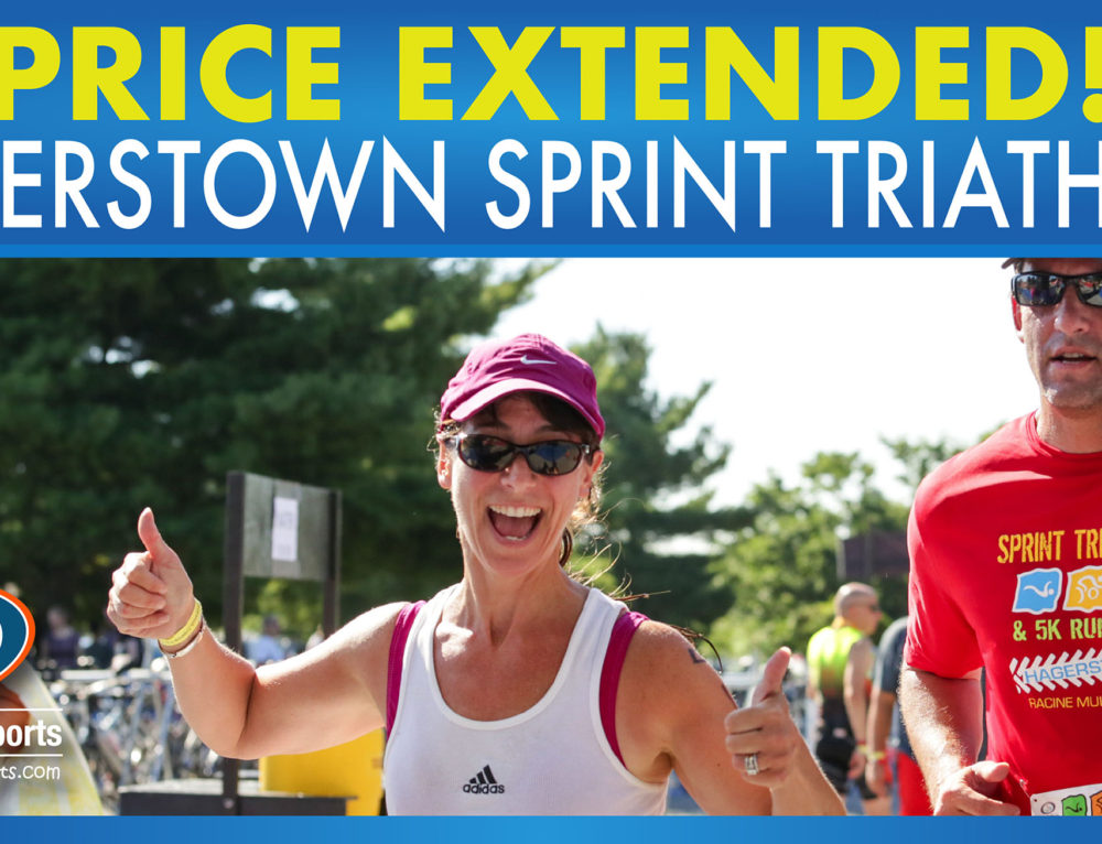 PRICE EXTENDED – Hagerstown Sprint Triathlon