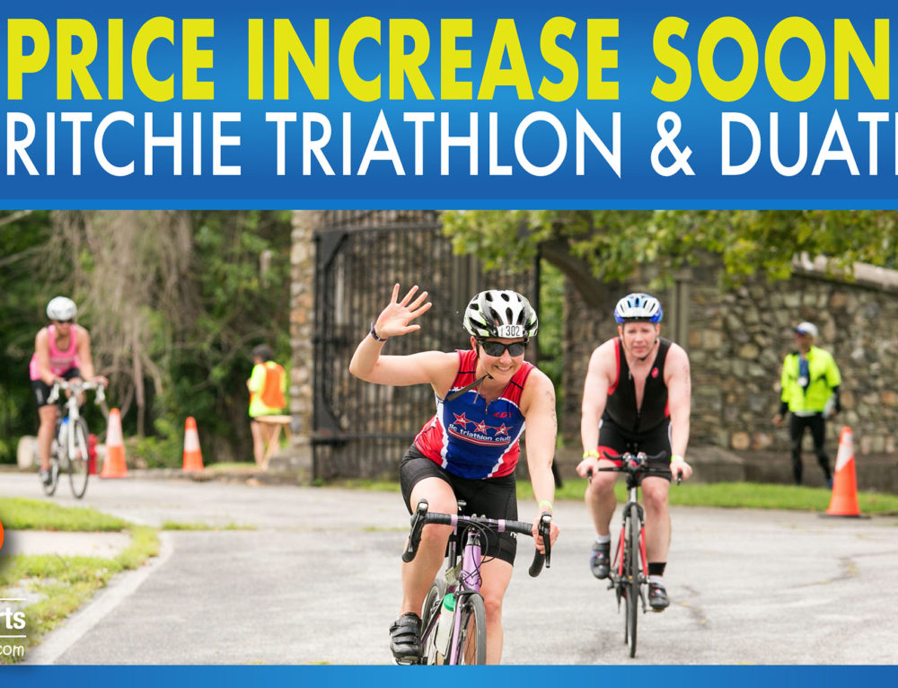 Price Increase Soon – Fort Ritchie Triathlon & Duathlon
